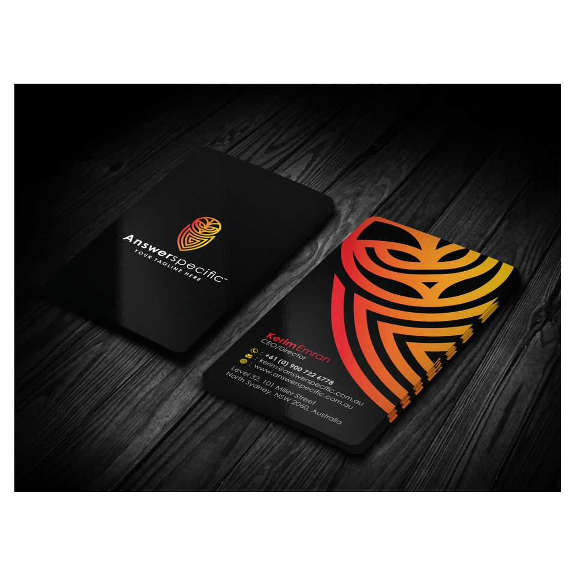 custom business card design by Dhir