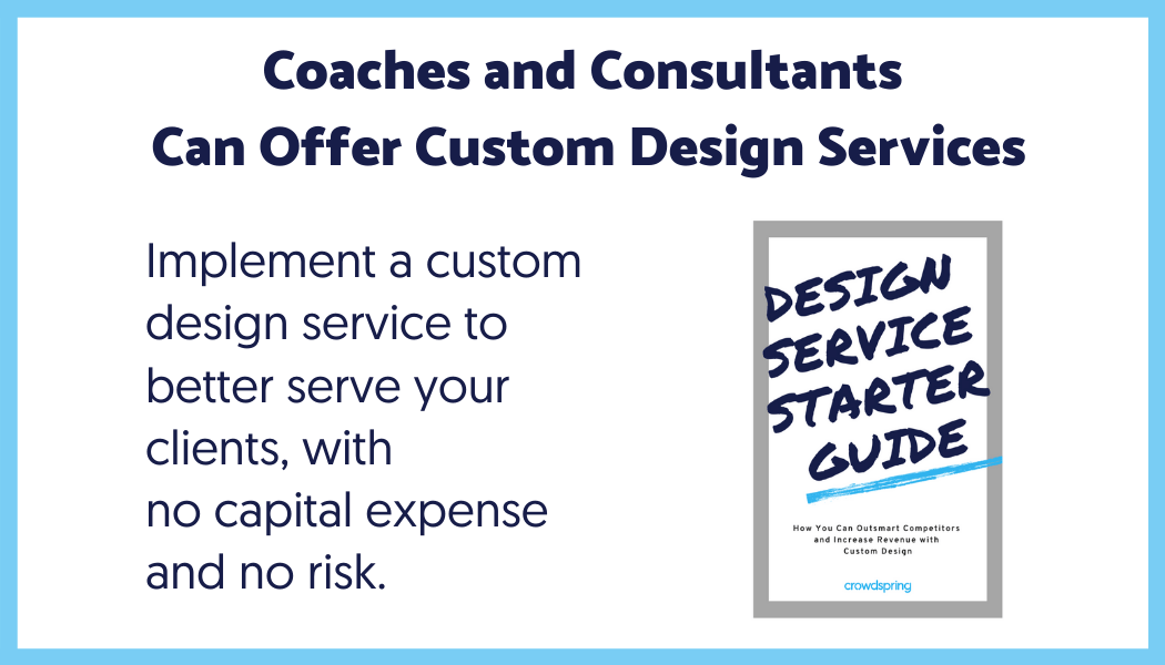 crowdspring design service starter guide for coaches and consultants