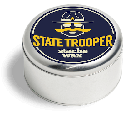 package graphics design for State Trooper Stache Wax by badaboom