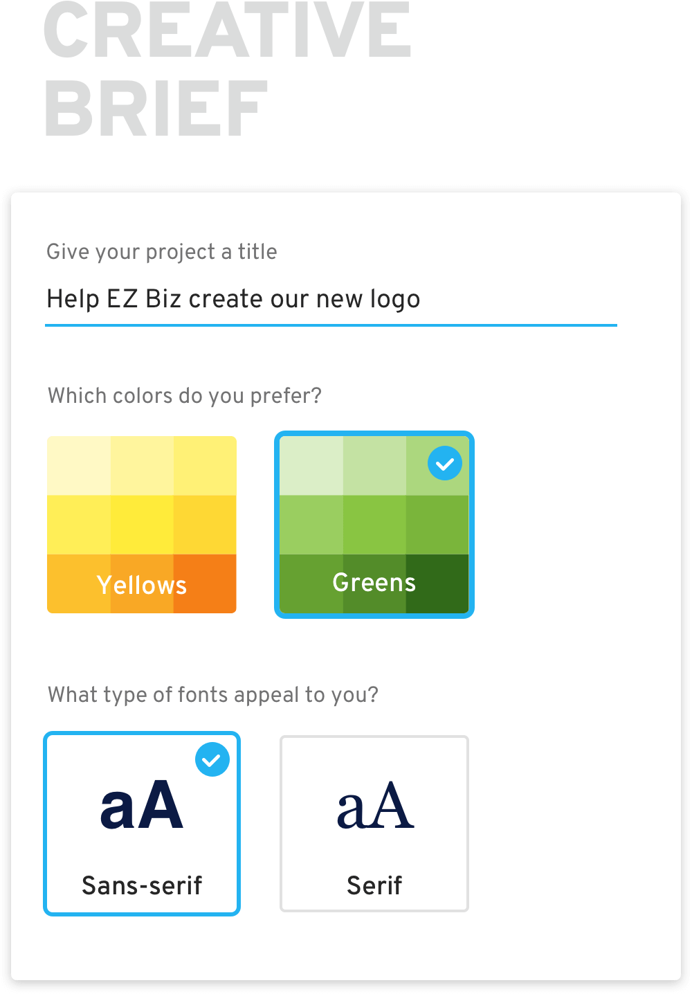 first step of how crowdspring works is writing the creative brief