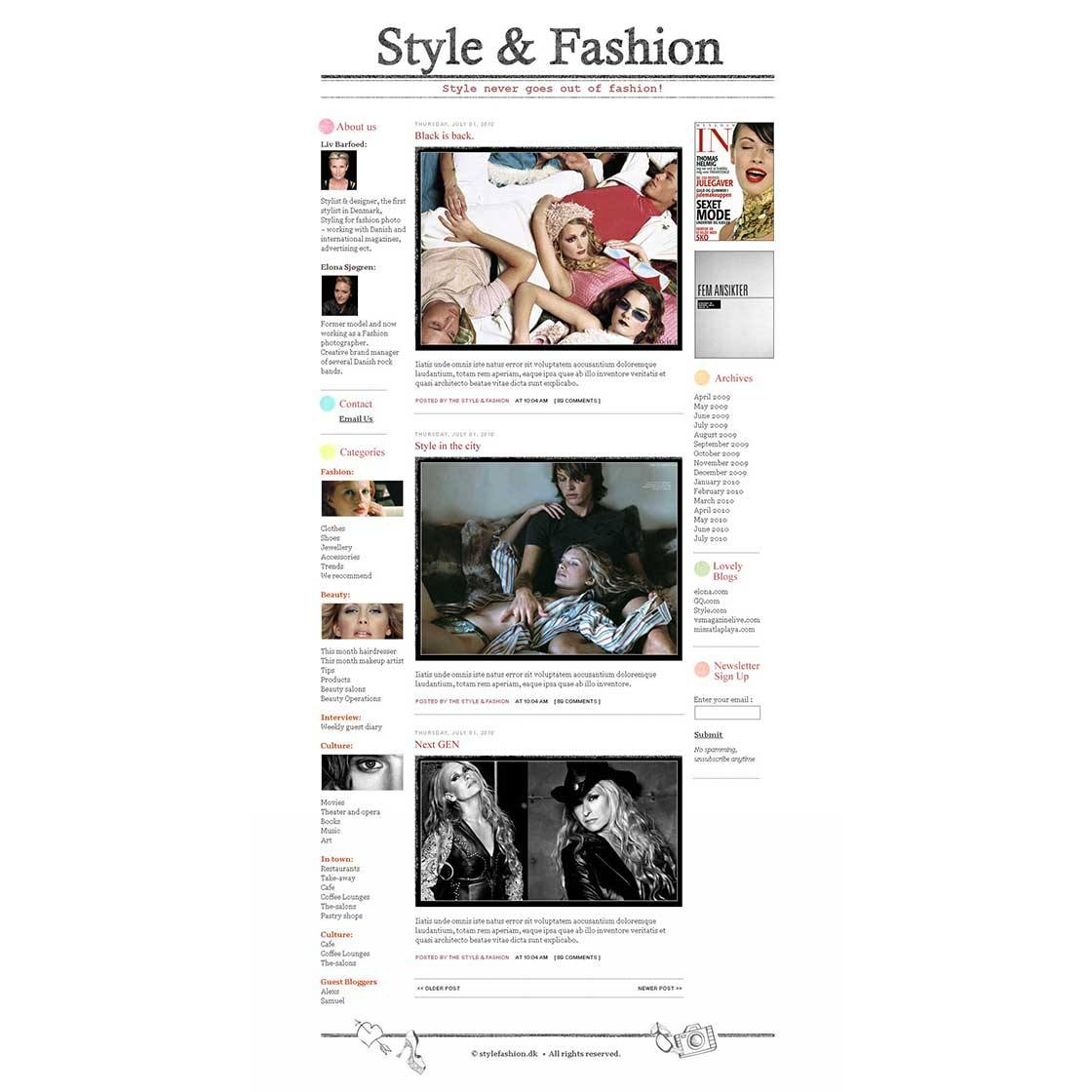custom blog theme design by A_Secret_Promise