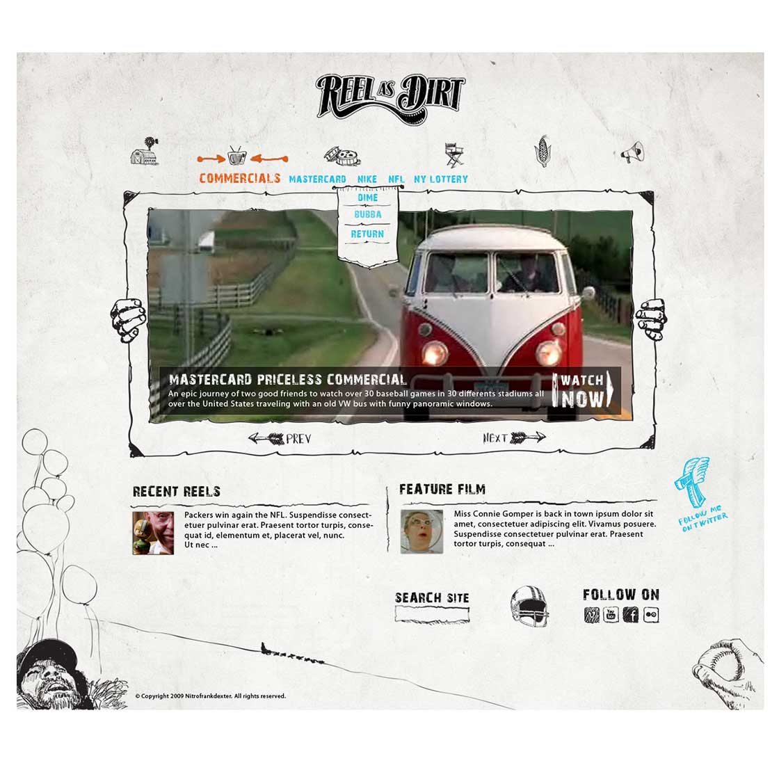 custom blog theme design by nitrofrankdexter