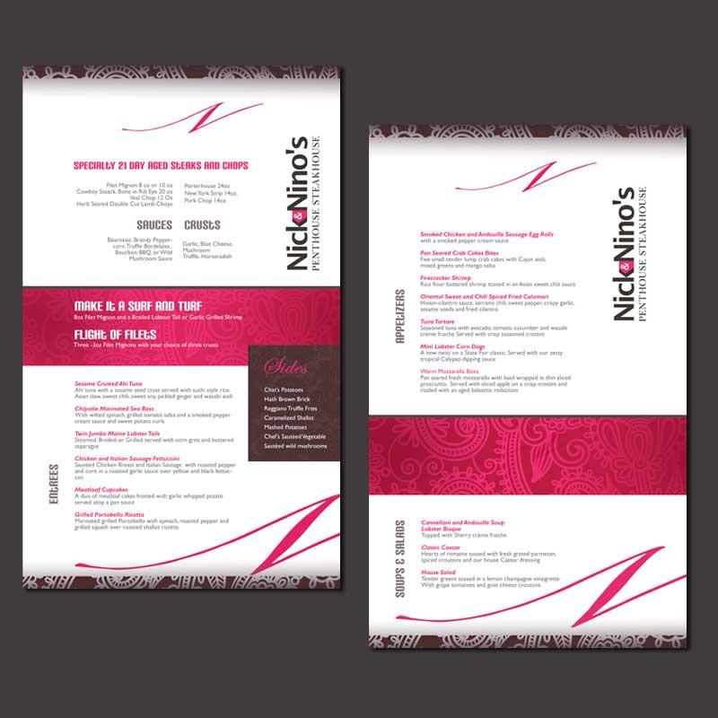 custom menu designed by MarcoDavelouis