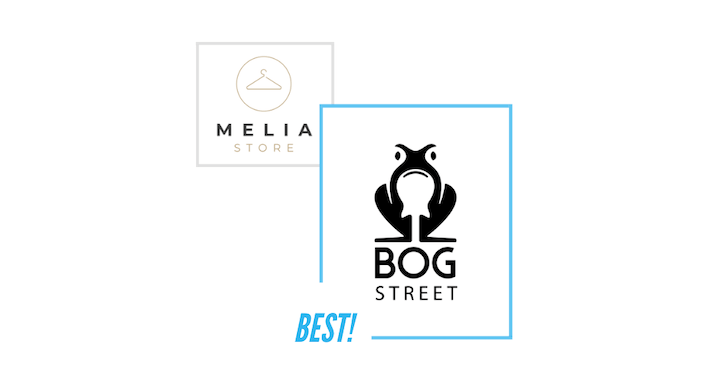 comparing Bog Street logo and Melia Store logo