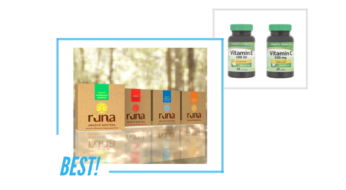 comparing Runa and Nature's Measure product packaging and labels