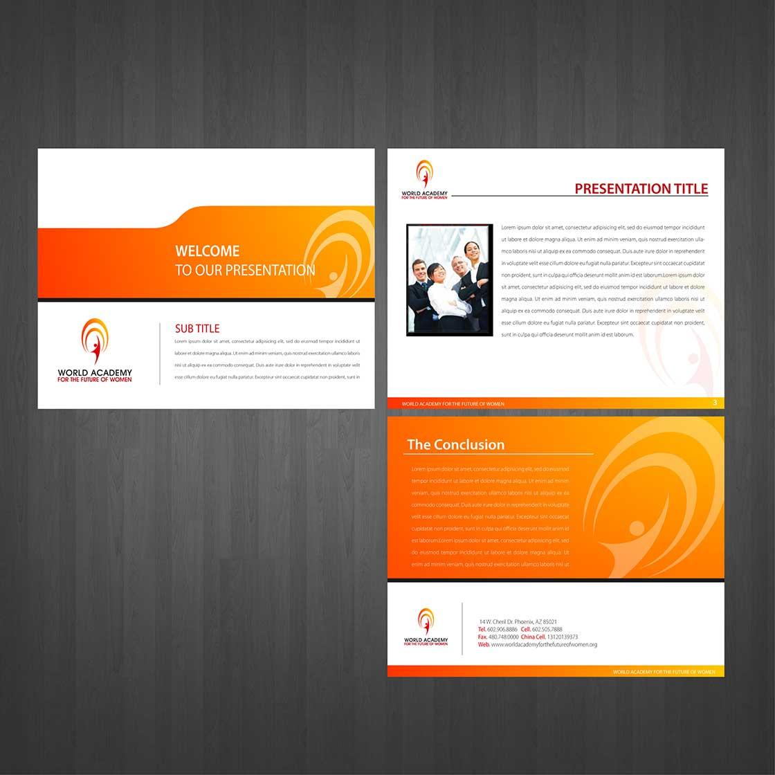 crowdspring presentation design by nila