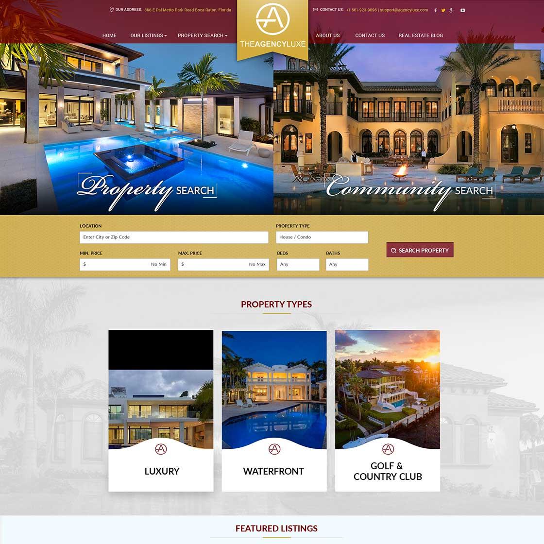 landing page designed by designzenie