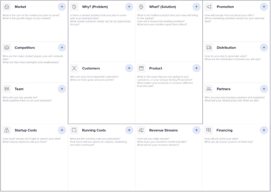 idea plan one page business plan