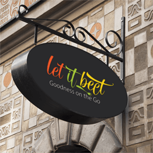 logo design - Let it beet - variation 2