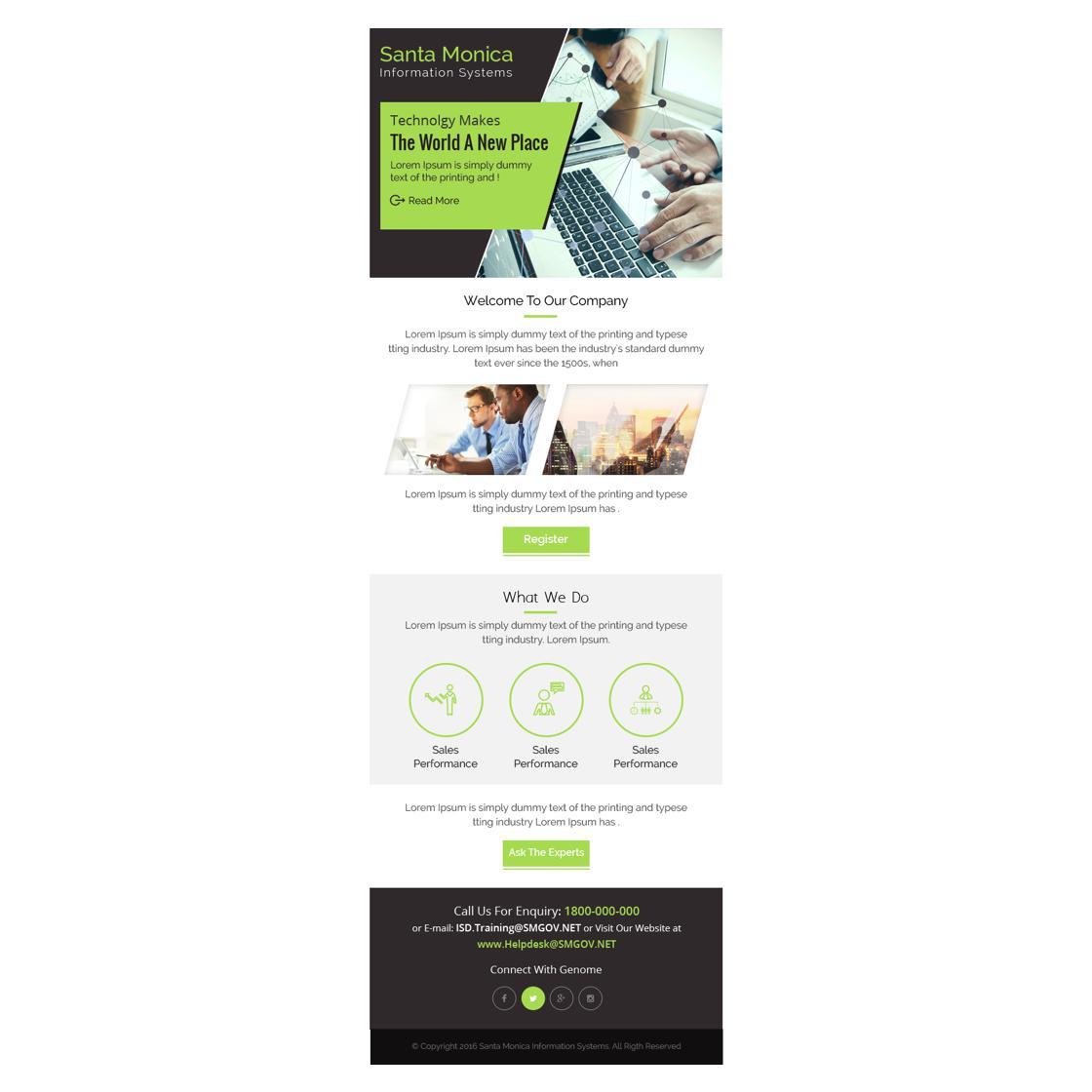 custom email template design by AdixDesign